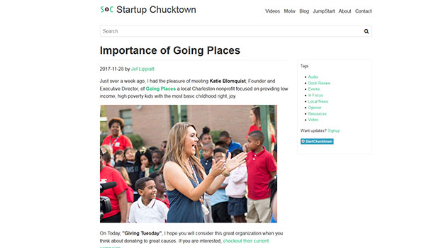 Image of the Startup Chucktown website